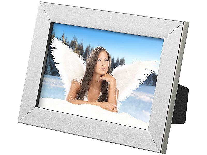 Your Design 10er-Set Bilderrahmen für Fotos mit 10 x 15 cm, silber