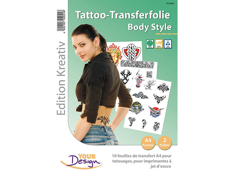 ; Temporary Tattoo Blätter Temporary Tattoo Blätter
