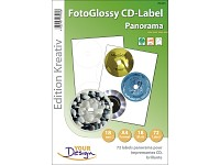 Your Design 72 FotoGlossy Panorama CD-Label 118/18 auf 24 A4 Bogen