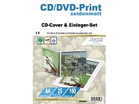 Your Design 25 CD-Cover/Einleger-Sets seidenmatt 160 g/m²