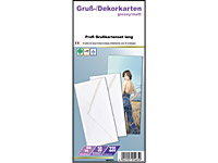 Your Design 15 Inkjet-Grußkarten DIN lang glossy/matt 220 g + Kuverts