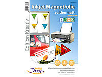 Your Design 5 Inkjet-Magnetfolien A4 matt/weiß