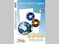 Your Design 75 CD-Label Standardformat Universal für Laser/Inkjet