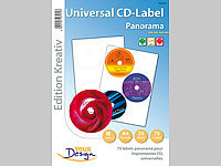 Your Design 75 Panorama-CD-Label Universal für Laser/Inkjet