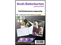 Your Design 60 Inkjet-Grußkarten A6 Glossy/Matt 220g inkl. 60 Kuverts