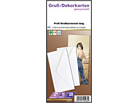Your Design 60 Inkjet-Grußkarten DIN lang glossy/matt 220 g + Kuverts