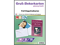 Your Design 20 Inkjet-Klappkarten gefalzt A5 glossy/matt mit Kuverts