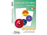 Your Design 300 Panorama CD-Labels 118/18 auf 100 A4 Bogen