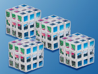 "Your Design Zauberwürfel ""My Cube"" in transparent, 4er-Sparset"